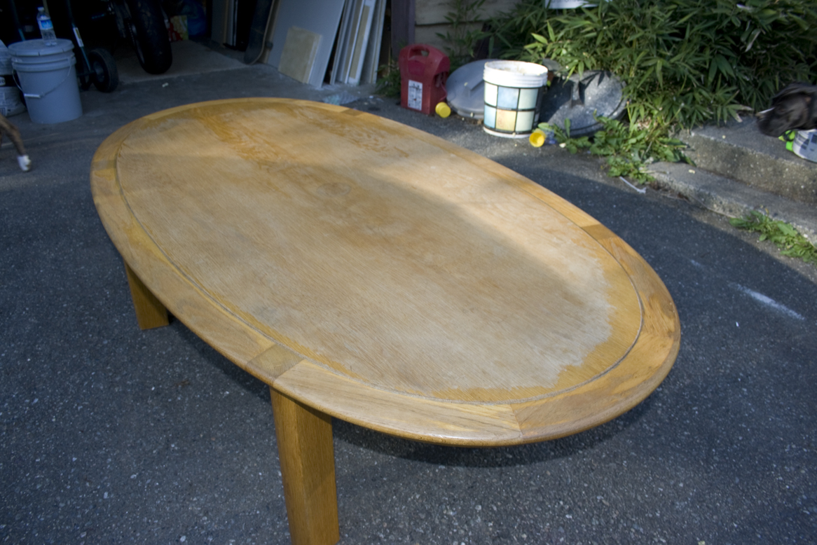 Refinishing An Oak Table – Wood FurnitureDecorative Painting . Full resolution  photo, nominally Width 1166 Height 778 pixels, photo with #654A25.