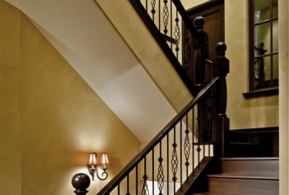 Stairwell venetian plaster walls and ceilings by darrell morrison