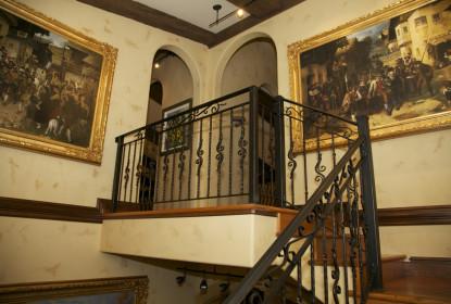 Tadelakt Lime plaster stairwell