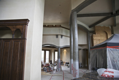 Tadelakt pillars and arches ventian lime plaster vancouver canada