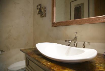 Textured venetian plaster bathroom vancouver