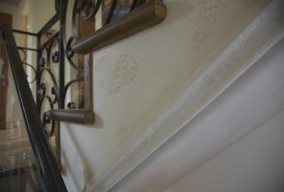 Venetian plaster baseboard