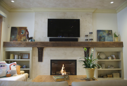 Venetian plaster fireplace vancouver