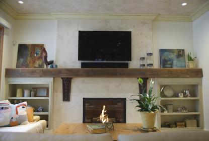 Venetian plaster fireplace vancouver
