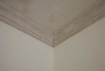 Venetian plaster crown moulding