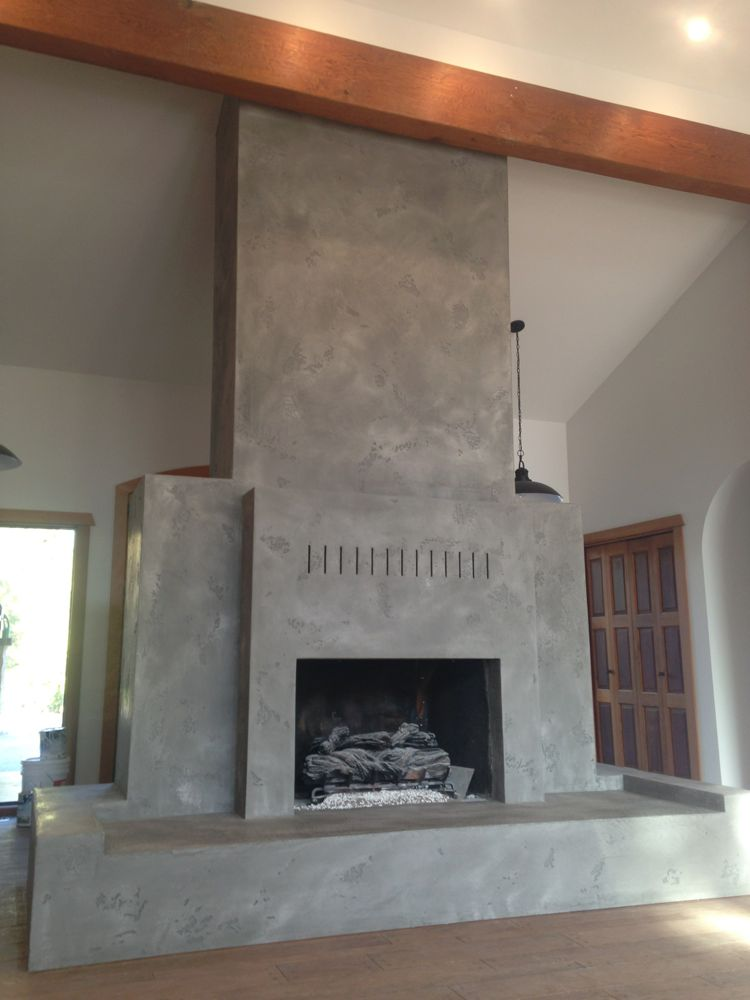 how to build a fireplace surround over brick